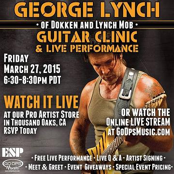 George Lynch Guitar Clinic 27 Mar 2015