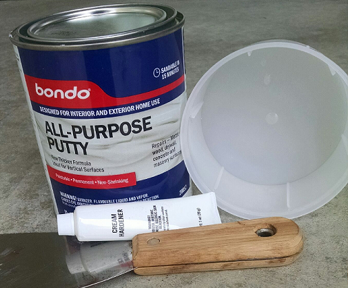 Horrible smelling Bondo is sort of amazing