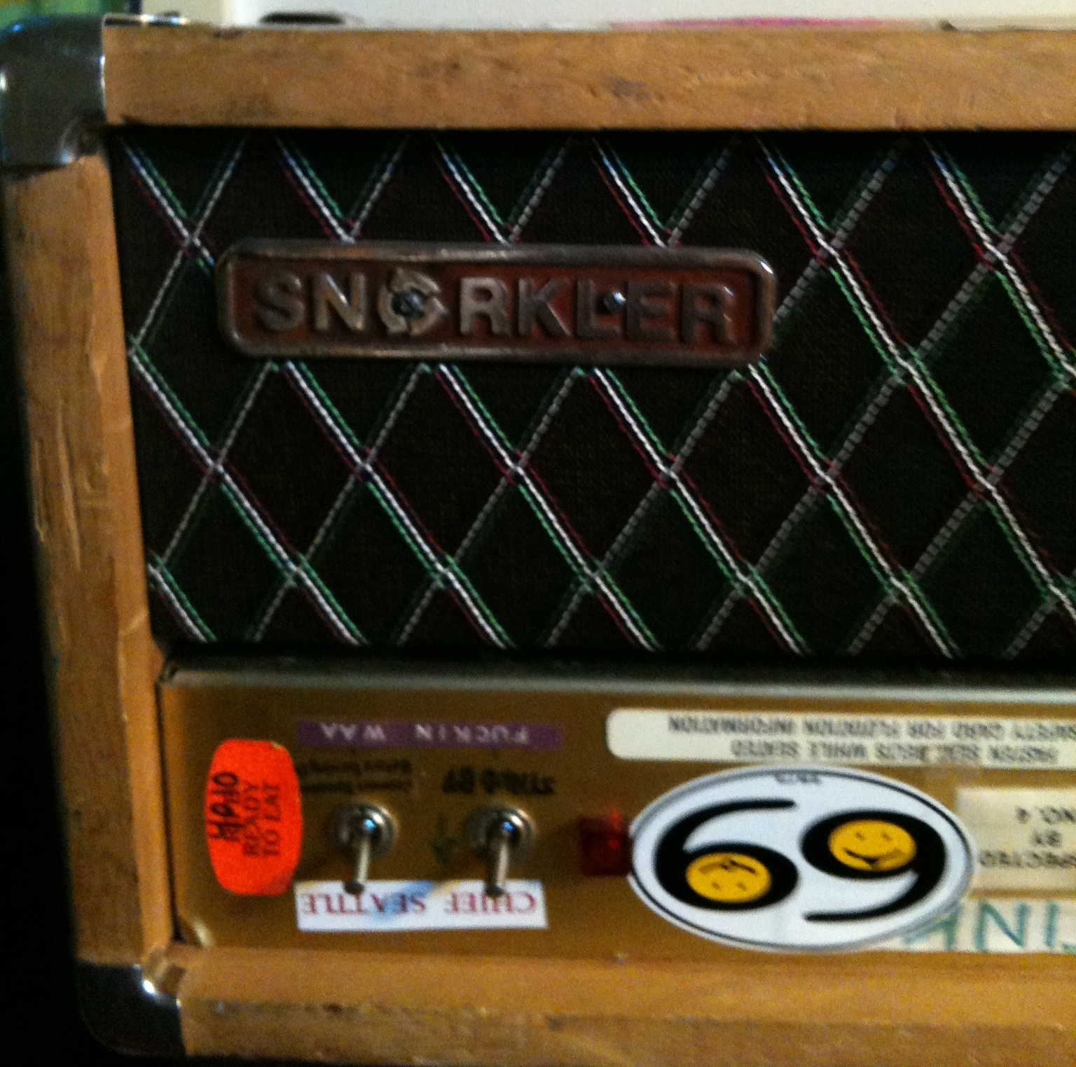 Ronnie Champagne's Modified Marshall JCM800 aka The Snorkler front