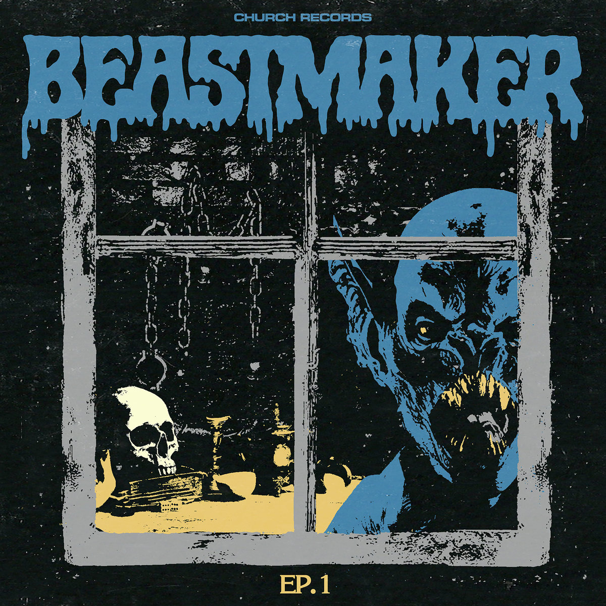 Beastmaker EP-1 Colors Of The Dark Black Butterfly Demon Witch Child Spike Lined Coffin