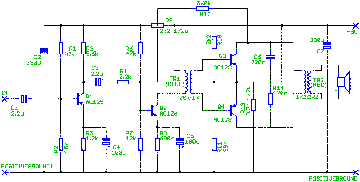 Schematic 1 for Deacy Amp