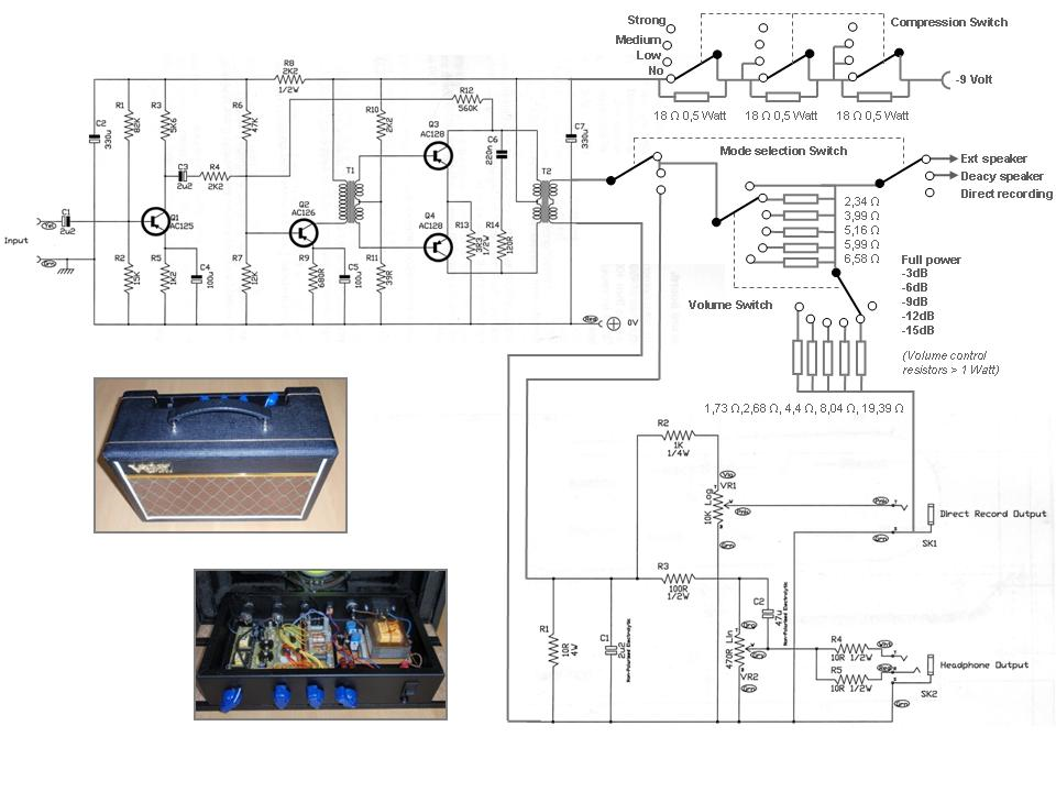 Schematic 2 for Deacy Amp