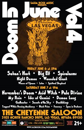 Image of 2014 Doom in June flyer
