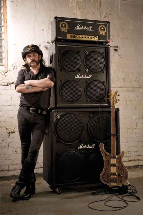 Lemmy and his 1992LEM Marshall stack