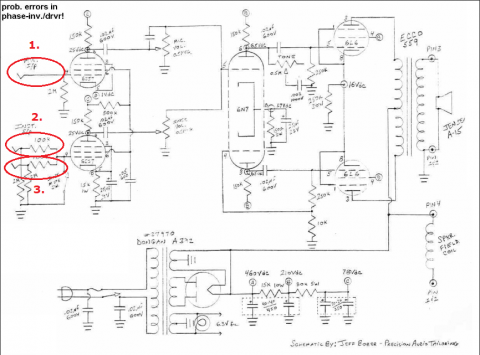 1946 Fender Pro Schematic showing three inputs. Ray Massie's influence?
