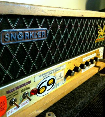 Ronnie Champagne's Modified Marshall JCM800 aka The Snorkler oblique