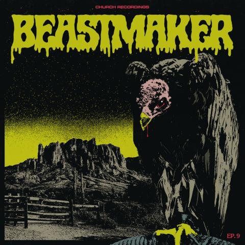 Beastmaker EP-9 ESP Screaming Vultures Skeletal Rider Black Dog