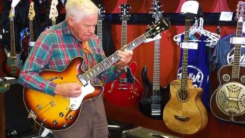 Grampa kills it on guitar shocking patrons staff and family