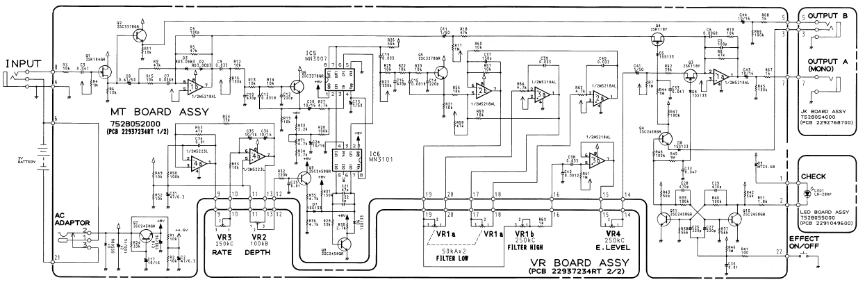 File:Boss CE-5Schematic.png - Thermionic Studios on rat schematic, mxr micro chorus schematic, ibanez ts9 schematic, dod 440 schematic, univibe schematic, bk butler tube driver schematic, bug zapper circuit schematic, taser schematic,
